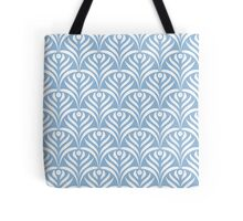 Art deco,pale blue,white,chic,elegant,1020's,great the Gatsby,pattern,retro,vintage, beautiful,scale,shaped,decor,decorative,contemporary,style,stylish Tote Bag
