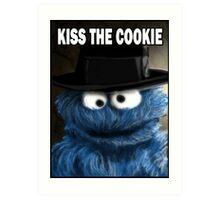 Kiss The Cookie Art Print