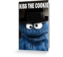 Kiss The Cookie Greeting Card
