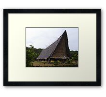 Men's Community House Yap Framed Print