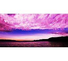 Pink Pudin - Sunrise. From the deck of Misty of Gosford. Photographic Print