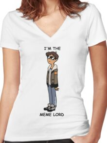 MEME LORD LANCE Women's Fitted V-Neck T-Shirt