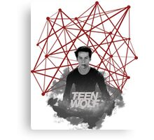 Stiles Stilinski Connected Lines Canvas Print