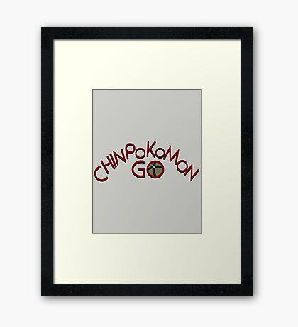 Chinpokomon GO! Framed Print