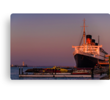 Queen Mary at sunset Canvas Print