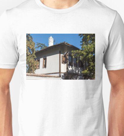 The White Chimney - Sun Dappled Elegant Revival House Unisex T-Shirt