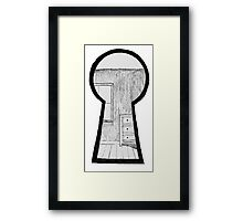 Keyhole Bedroom Framed Print