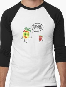 Food Fight! Men's Baseball ¾ T-Shirt
