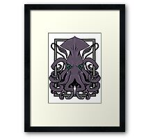Encaged Kraken Framed Print