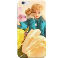 Vintage Barbie with Flowers iPhone Case/Skin