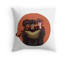 The Marauding Golden Trio Throw Pillow