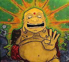 The Happy Buddha by GratefulGraphix