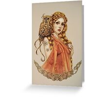 Blodeuwedd Owl Maiden Greeting Card