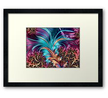 Feather - abstract 3d Fractal Framed Print