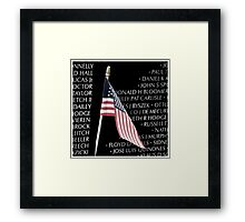 Vietnam War Memorial Framed Print