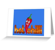 Hot Chilli Pepper T-Shirt Greeting Card