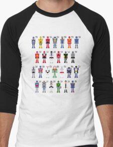 Transformers Alphabet Men's Baseball ¾ T-Shirt