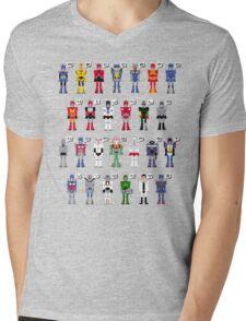 Transformers Alphabet Mens V-Neck T-Shirt