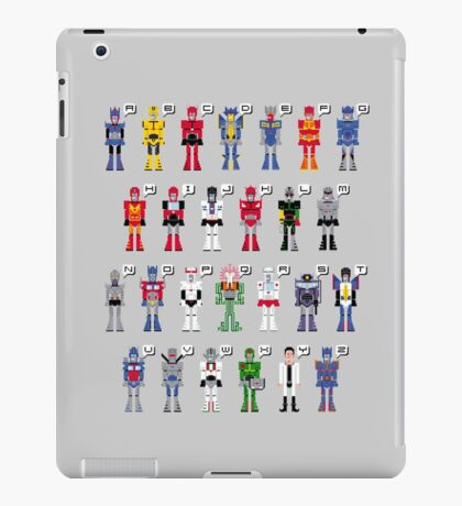 Transformers Alphabet iPad Case/Skin