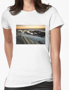 Sunrise on the Maine Coastline Womens Fitted T-Shirt