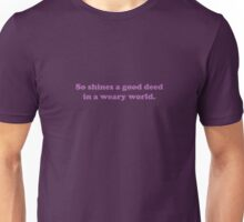 Willy Wonka - So shines a good deed - Purple Font Unisex T-Shirt