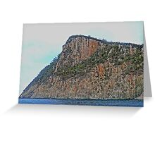 Cliffs, Bruny Island,  Tasmania, Australia Greeting Card