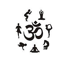 Yoga Om Photographic Print