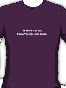 Willy Wonka - I'm a Vermicious Knid - White Font T-Shirt