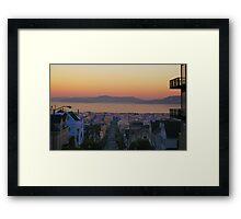 Dawn San Francisco Bay Framed Print