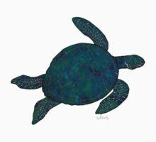Sea Turtle 4C Blue Green  Kids Tee