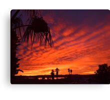 Christmas Eve Sunset Canvas Print