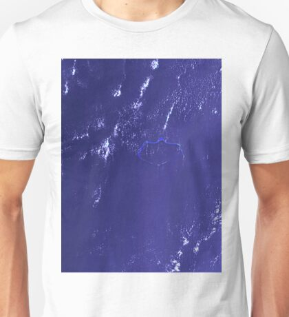 Marshall Islands Bikini Atoll Satellite Image Unisex T-Shirt