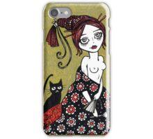 Powder Puff Red iPhone Case/Skin