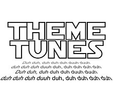 Theme tunes Photographic Print