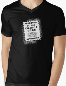 Approved by the Comics Code (but just barely) Mens V-Neck T-Shirt