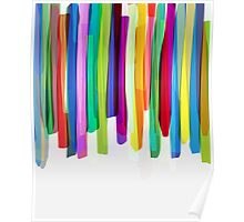 Colorful Stripes 2 Poster