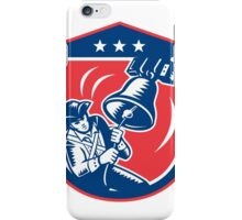 American Patriot Ringing Liberty Bell Woodcut Retro iPhone Case/Skin