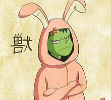 Beast Boy in a bunny suit (Emaki) by jblevalenteen