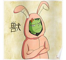 Beast Boy in a bunny suit (Emaki) Poster