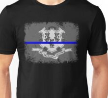 Blue Line Connecticut State Flag Unisex T-Shirt