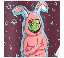 Beast Boy in a bunny suit (Starry) Poster