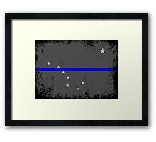 Blue Line Alaska State Flag Framed Print