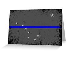 Blue Line Alaska State Flag Greeting Card