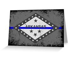 Blue Line Arkansas State Flag Greeting Card