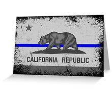 Blue Line California State Flag Greeting Card