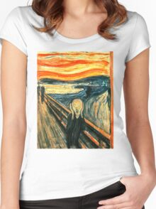 The Scream by Edvard Munch Women's Fitted Scoop T-Shirt