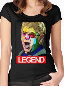 ELTON JOHN Women's Fitted Scoop T-Shirt