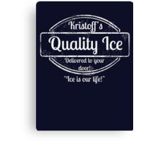 Kristoff's Quality Ice - WHITE Canvas Print