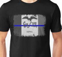 Blue Line Iowa State Flag Unisex T-Shirt