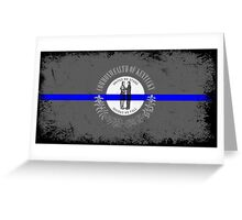 Blue Line Kentucky State Flag Greeting Card